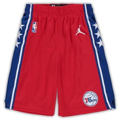 """Preschool Jordan Brand Red Philadelphia 76ers Statement Edition Replica Shorts"""