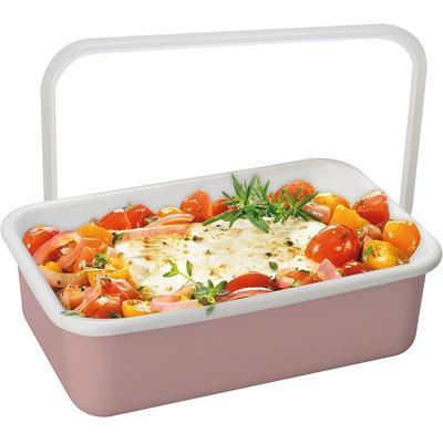 Honeyware Frischhaltedose Color Line, (1 tlg.), geeignet zum Kochen, Backen, Servieren, Aufbewahren, Transportieren und Einfrieren, auch als Ofenform rosa Aufbewahrung Küchenhelfer Haushaltswaren