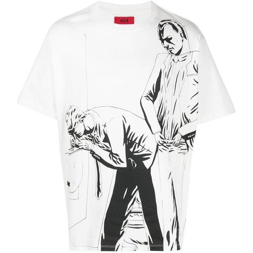 424 T-Shirt mit Zeichnungs-Print