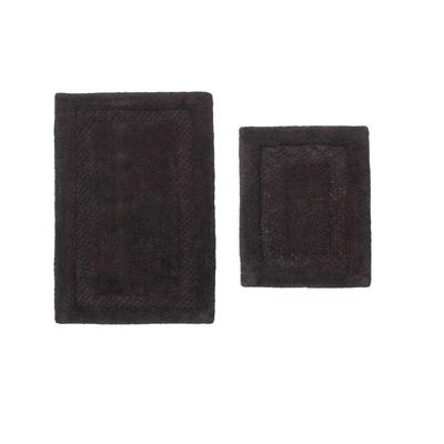 Classy Bathmat 2 Piece Bath Rug Collection by Home Weavers Inc in Grey