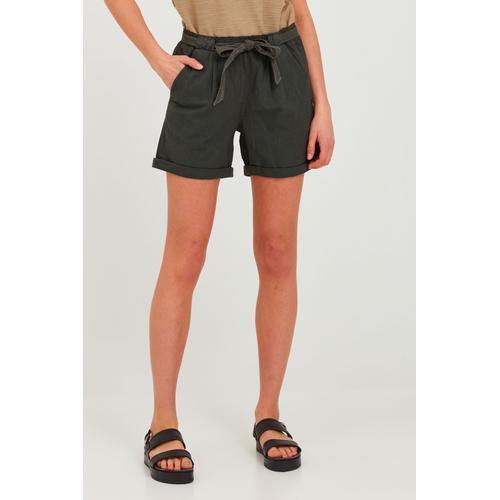 OXMO Chinoshorts Lina, (mit Gürtel), mit Gürtel grau Damen Shorts Bermudahosen Hosen