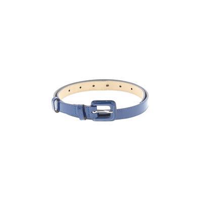 L.K. Bennett - L.K. Bennett Leather Belt: Blue Solid Accessories - Size Small