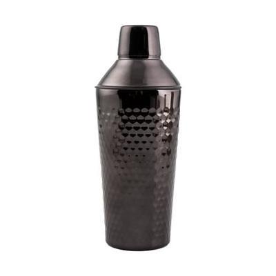 Cambridge Silversmiths Black 20 oz Hammered Black Nickel Insulated Shaker