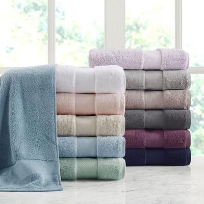 Turkish Cotton Bath Towel Set Six Piece Set, Six Piece Set, Gray