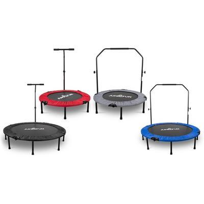 Mini-trampoline de fitness pliable : Barre en T / 122 cm / Noir