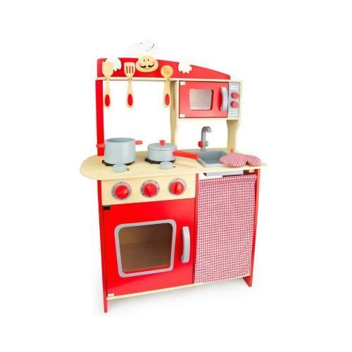 Kinderküche Kinderküche Spielküche aus Holz mit Zubehör chilli rot