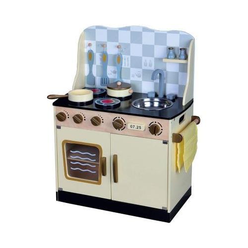 Kinderküche Kinderküche Spielküche aus Holz mit Zubehör COUNTRY blau