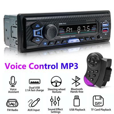 Autoradio bt 5.0, lecteur MP3, 6...