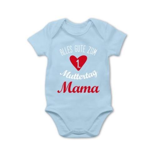 Muttertagsgeschenk Tochter & Sohn Baby Alles gute zum ersten Muttertag Bodys Kinder hellblau Baby