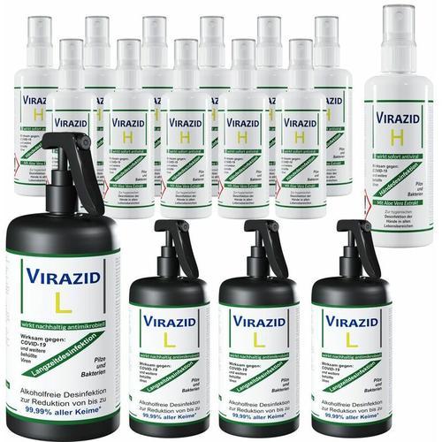 Deuba - Desinfektionsmittel Hautdesinfektion Virazid H Flächendesinfektion Virazid L Set