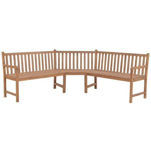 Garten-Eckbank 202×202×90 cm Massivholz Teak - Youthup