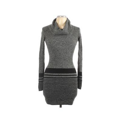 BCX dress Casual Dress - Sweater Dress: Gray Dresses - Used - Size Medium
