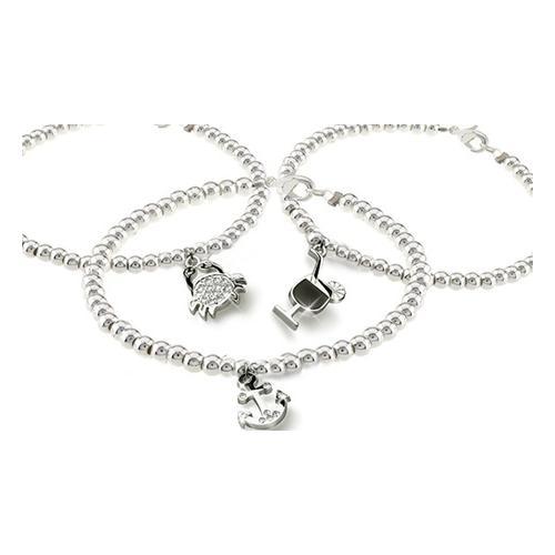 Armband mit Charm: Anker/ohne Kristallen