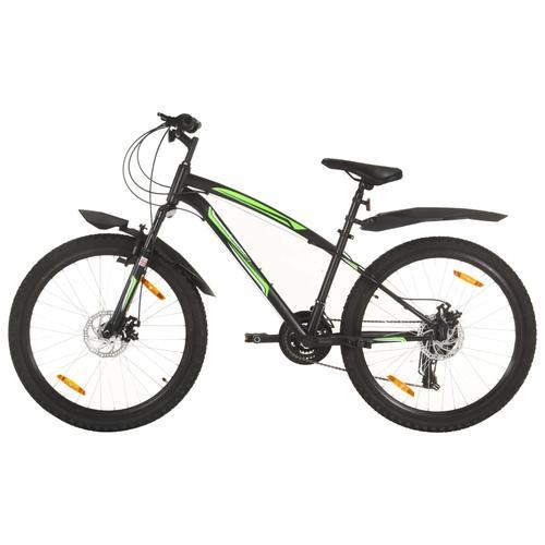 vidaXL Mountainbike 21 Gang 26 Zoll Rad 36 cm Schwarz