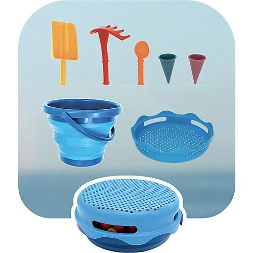 7in1 Set Sandspielzeug, blau