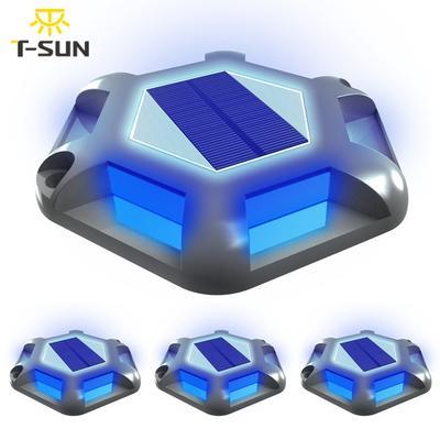 Lampe solaire à 6led bleue imper...