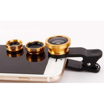 Kit objectif photo pour smartphone 3 en 1 : Argent / x1