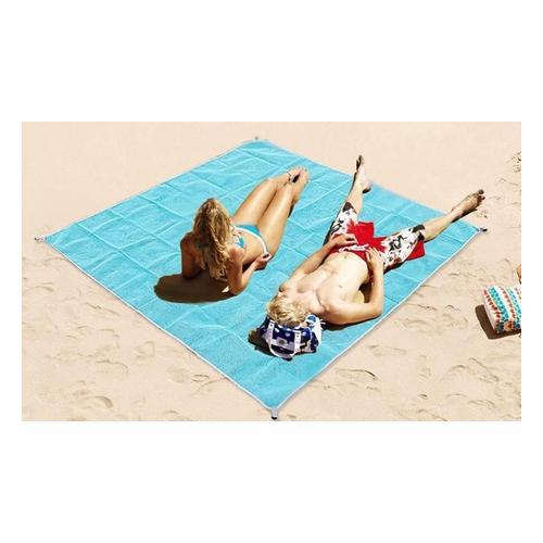 Sandfreie Strandmatte: 200 x 200 cm/2