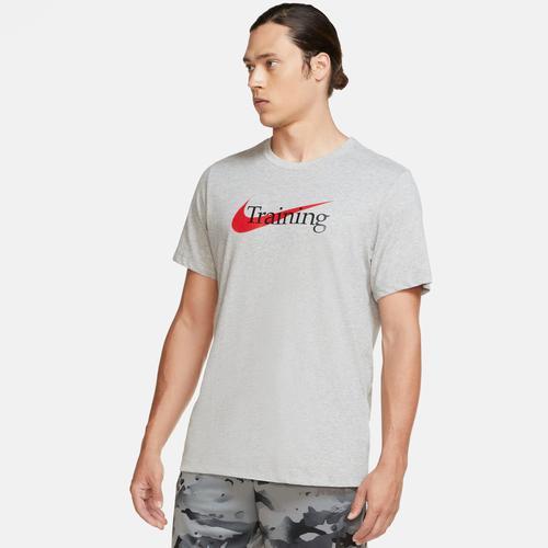 Nike Trainingsshirt Men's Swoosh Training T-shirt grau Herren Bekleidung