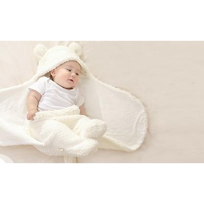Newborn Thermal Swaddling Baby Blanket - Cream