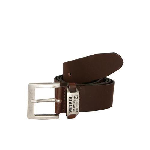 Petrol Industries Ledergürtel, mit schicker Markengravur braun Damen Ledergürtel Gürtel Accessoires