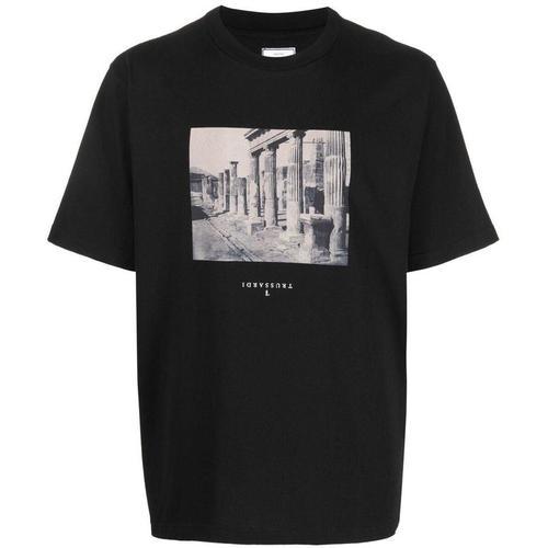 Trussardi T-Shirt mit Foto-Print