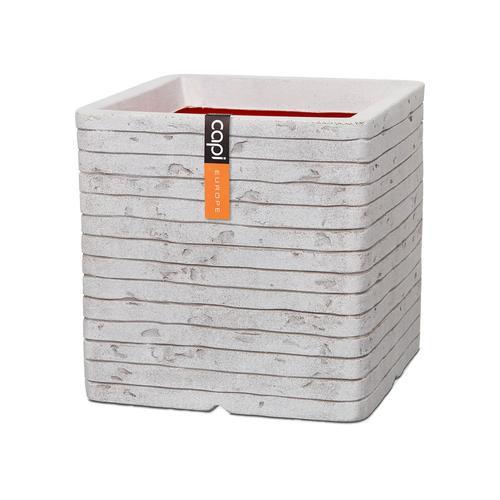 Capi Europe Topf quadrat Row (40x40x40 cm, Elfenbein)