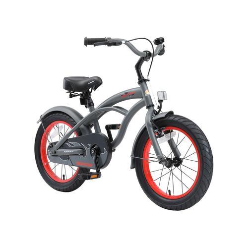 Bikestar Kinderfahrrad (16 Zoll, Grau, Cruiser)