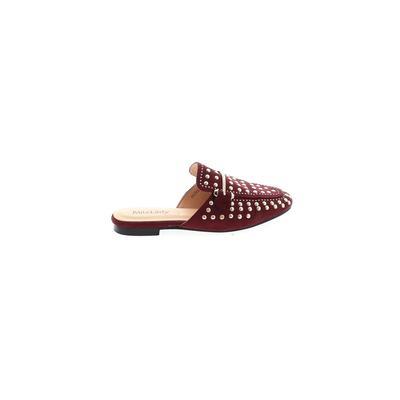 Mila Lady - Mila Lady Mule/Clog: Burgundy Solid Shoes - Size 5 1/2