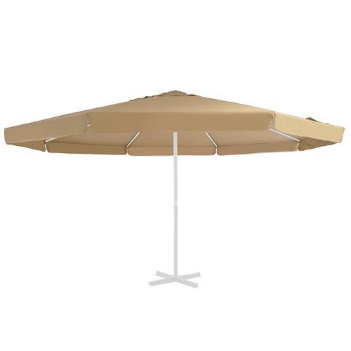 vidaXL Ersatzbezug für Sonnenschirm Taupe 500 cm