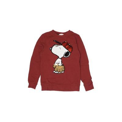 H&M Sweatshirt: Burgundy Solid Tops - Size 6X