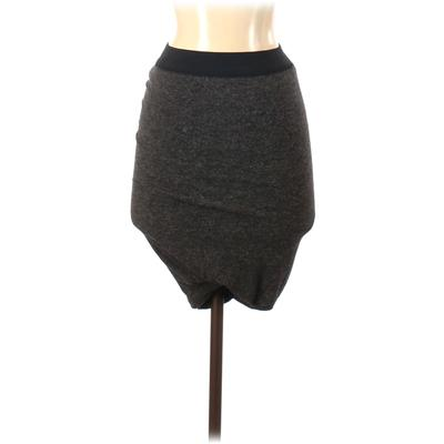 T by Alexander Wang Casual Skirt: Gray Color Block Bottoms - Size X-Small