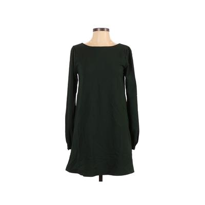Lulu's Casual Dress - A-Line: Green Solid Dresses - Used - Size X-Small