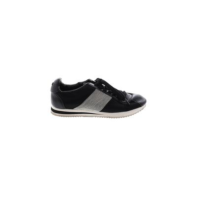 DKNY Sneakers: Black Solid Shoes - Size 7 1/2