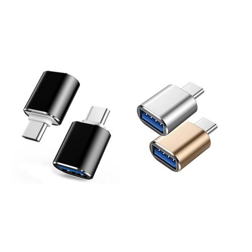 USB-C to USB 3.0 Adapter - Silver x2