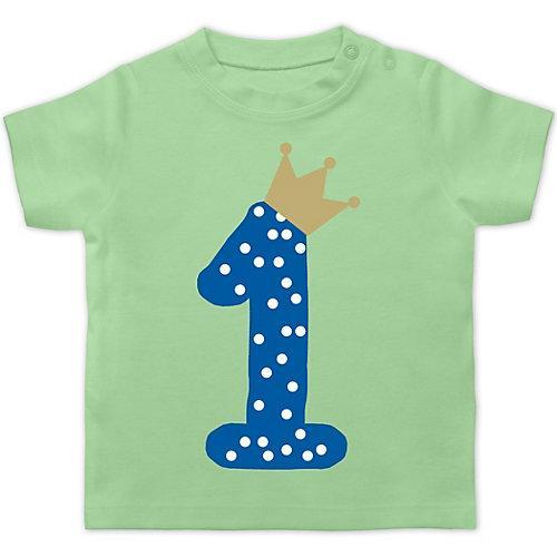 Baby Geburtstag Geburtstagsgeschenk 1. Geburtstag Krone Junge Erster T-Shirts Kinder mint Baby