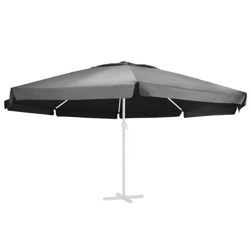vidaXL Ersatzbezug für Sonnenschirm Anthrazit 600 cm