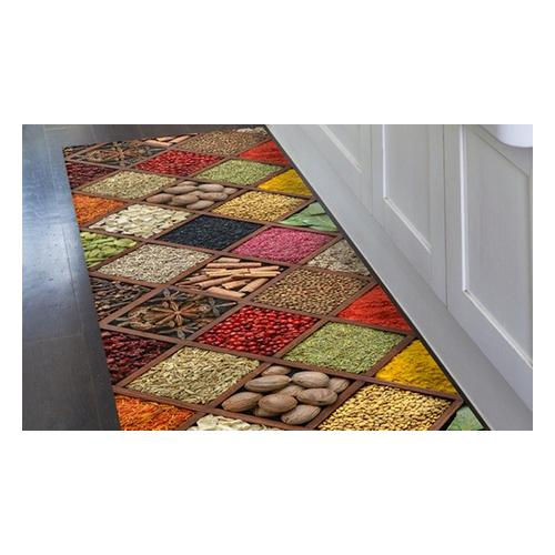 Kitchen runner carpet PVC Mes. 52 x 330 cm - Style Macarons