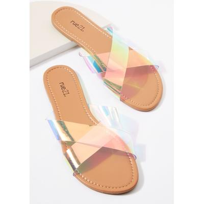 Rue21 Womens Clear X Band Sandals - Size 10