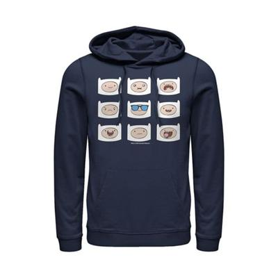 Cartoon Network Navy Junior's Finn Many Faces Graphic Hoodie