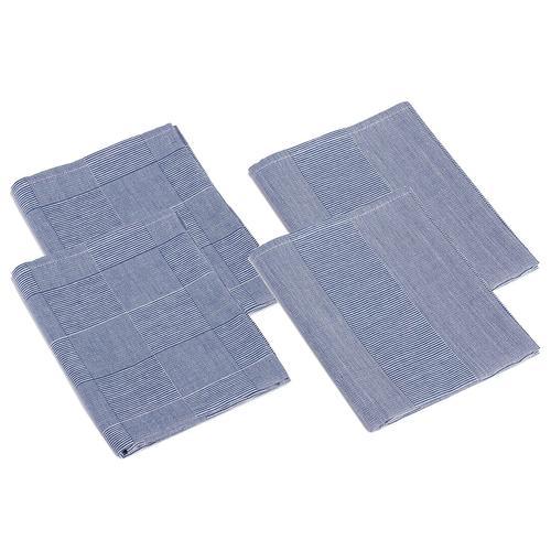 Gözze Geschirrtücher Karo und Streifen 4er Pack, 50 x 70 cm (blau)