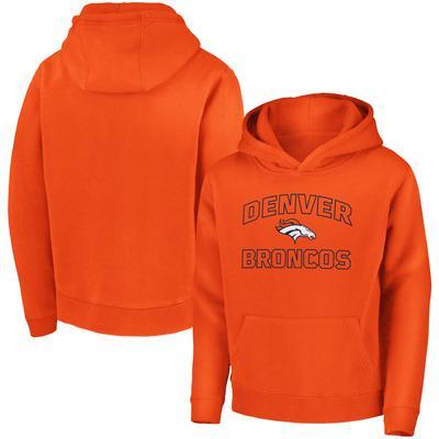 Youth Denver Broncos Fanatics Branded Orange Tie Breaker Pullover Hoodie