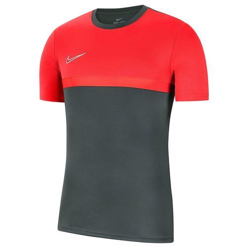 Nike Kinder Fußballshirt Kurzarm, grau/rot, Gr. 147-158