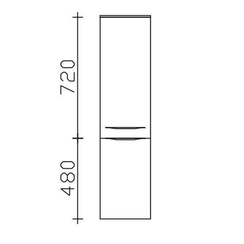 Midischrank 6025-MS30-01-33, B:300, H:1210, T:330mm 6025-MS30-01-33