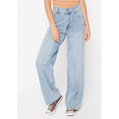 Rue21 Womens Medium Wash Super High Rise Wide Leg Jeans - Size 15