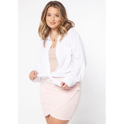 Rue21 Womens Plus Size Black Challis Button Up Top - Size 2X