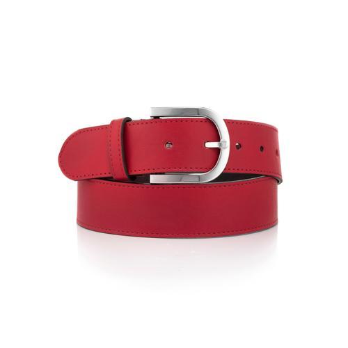 Alba Moda Ledergürtel, aus Rindsleder rot Damen Ledergürtel