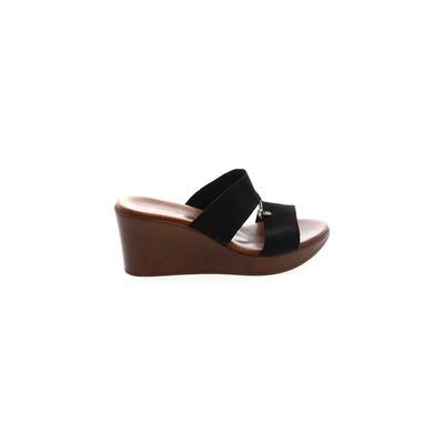 Italian Shoemakers Footwear - Italian Shoemakers Footwear Wedges: Black Solid Shoes - Size 9