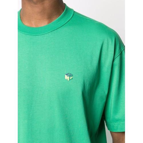 YMC T-Shirt mit Würfel-Print