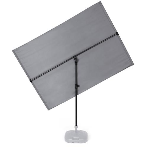 Hoberg flexibler Sonnenschirm - ca. 130 x 180 cm rechteckig grau